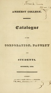 Amherst College Catalog 1829/1830