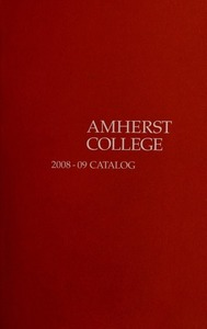 Amherst College Catalog 2008/2009