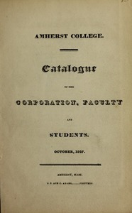 Amherst College Catalog 1827/1828