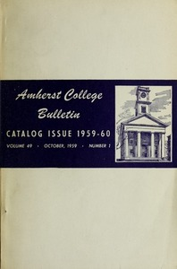Amherst College Catalog 1959/1960