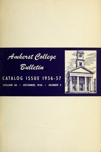 Amherst College Catalog 1956/1957