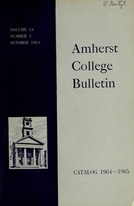 Amherst College Catalog 1964/1965