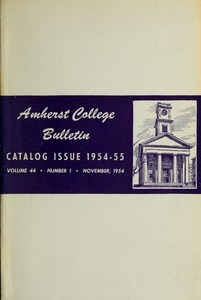 Amherst College Catalog 1954/1955