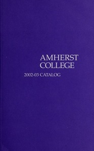 Amherst College Catalog 2002/2003