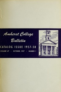 Amherst College Catalog 1957/1958