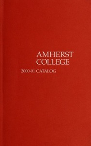 Amherst College Catalog 2000/2001
