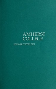 Amherst College Catalog 2003/2004