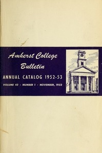 Amherst College Catalog 1952/1953