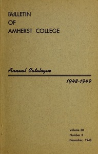 Amherst College Catalog 1948/1949