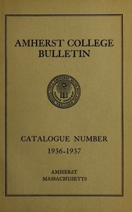 Amherst College Catalog 1936/1937