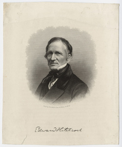 Edward Hitchcock, portrait, facing left, after 1859