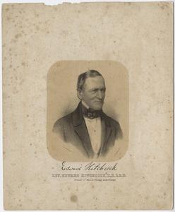 Edward Hitchcock, portrait, facing right, circa 1857