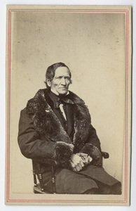 Edward Hitchcock, half-length portrait, facing right, circa 1863