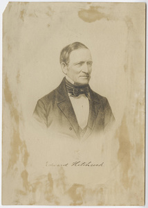 Edward Hitchcock, portrait, facing right, circa 1855