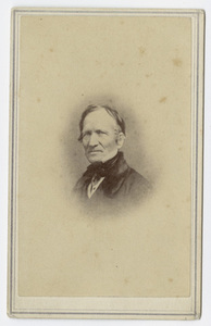 Edward Hitchcock, portrait, facing left, circa 1859