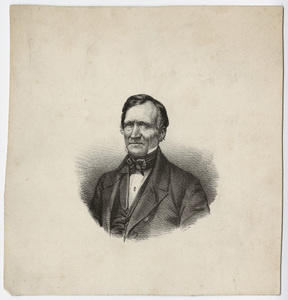 Edward Hitchcock, portrait, facing left, circa 1854