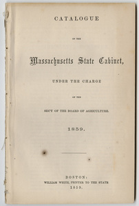 Catalogue of the Massachusetts State Cabinet