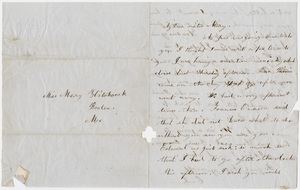 Emily Hitchcock letter to Mary Hitchcock
