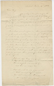 Orra White letter to Lucy Fowler, 1820 February 19