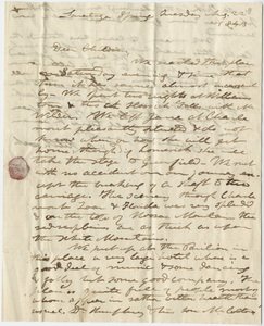Edward Hitchcock and Orra White Hitchcock letter to the Hitchcock children, 1843 August 22