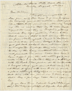 Edward Hitchcock and Orra White Hitchcock letter to the Hitchcock children, 1848 August 18