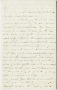 Eunice Huntington letter to Edward Hitchcock, 1863 May 30
