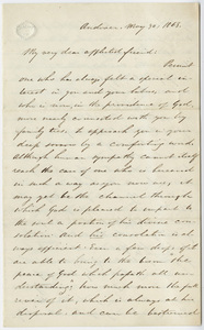 Elijah Barrows letter to Edward Hitchcock, 1863 May 30
