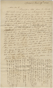 L. Chapin letter to Orra White Hitchcock, 1824 March 30