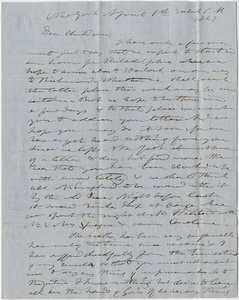 Edward Hitchcock and Orra White Hitchcock letter to the Hitchcock children, 1847 April 1