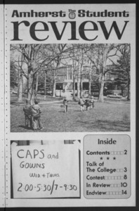 Amherst Student Review, 1975 May 9