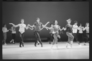 Photographs of a rehearsal for the Student/Faculty Dance Concert, 1986 April