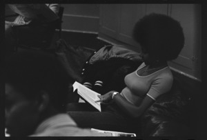 Photographs of two Black Studies classes in session, 1972 October