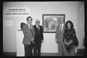 Photographs of an art exhibit opening in Mead Art Museum, 1994 October