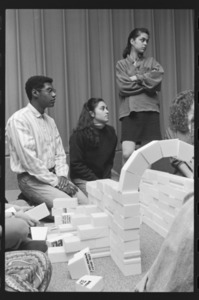 Photographs of a class in session in Stirn Auditorium, 1989 February