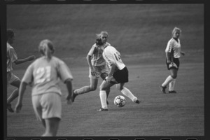 Photographs of an Amherst College versus Tufts University soccer game, 2000 October