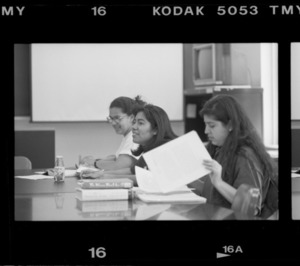 Photographs of a class taught by Ilan Stavans in session, 1995 May