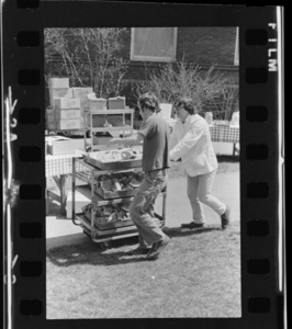 Photographs of a picnic on Valentine Quad, 1975 April 30