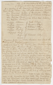 Minutes of the Convention of Colleges sent to Zephaniah Swift Moore, 1820 May 31