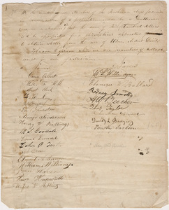 Freshmen class oath to abstain from wine, ardent spirit, tobacco, and opium, 1830-1831