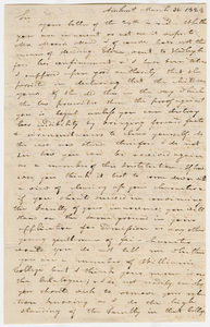 Copy of Heman Humphrey letter to Henry C. Towner, 1824 March 31