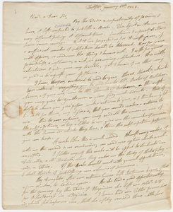 Asa Burton letter to Zephaniah Swift Moore, 1823 January 6