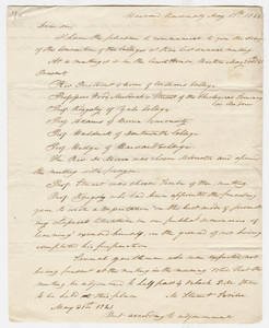 Levi Hodge letter to Zephaniah Swift Moore, 1822 May 15