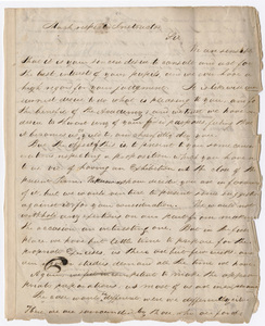 Amherst Academy students' statement on a proposed exhibition, 1831 June 23