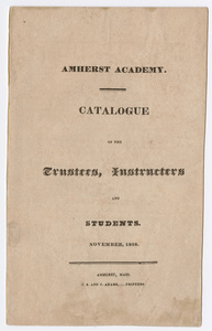 Amherst Academy catalog, 1828 fall term
