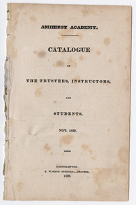 Amherst Academy catalog, 1829 fall term