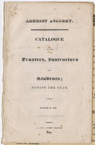 Amherst Academy catalog, 1830/1832 and Rules