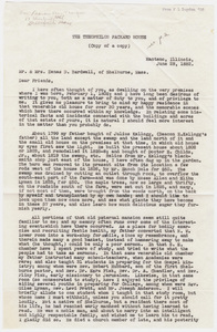 Copy of Theophilus Packard, Jr. letter to Mr. and Mrs. Zenas D. Bardwell, 1882 June 28