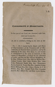 An act to establish a college in the town of Amherst