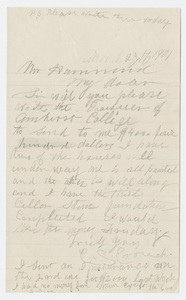 Charles S. Crouch letter to John Chester Hammond, 1901 March 27