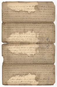 Amherst College Trustees deed to the Charity Fund Board of Overseers with Board of Overseers deed of release to the Trustees, 1826 April 1 and 1847 August 10